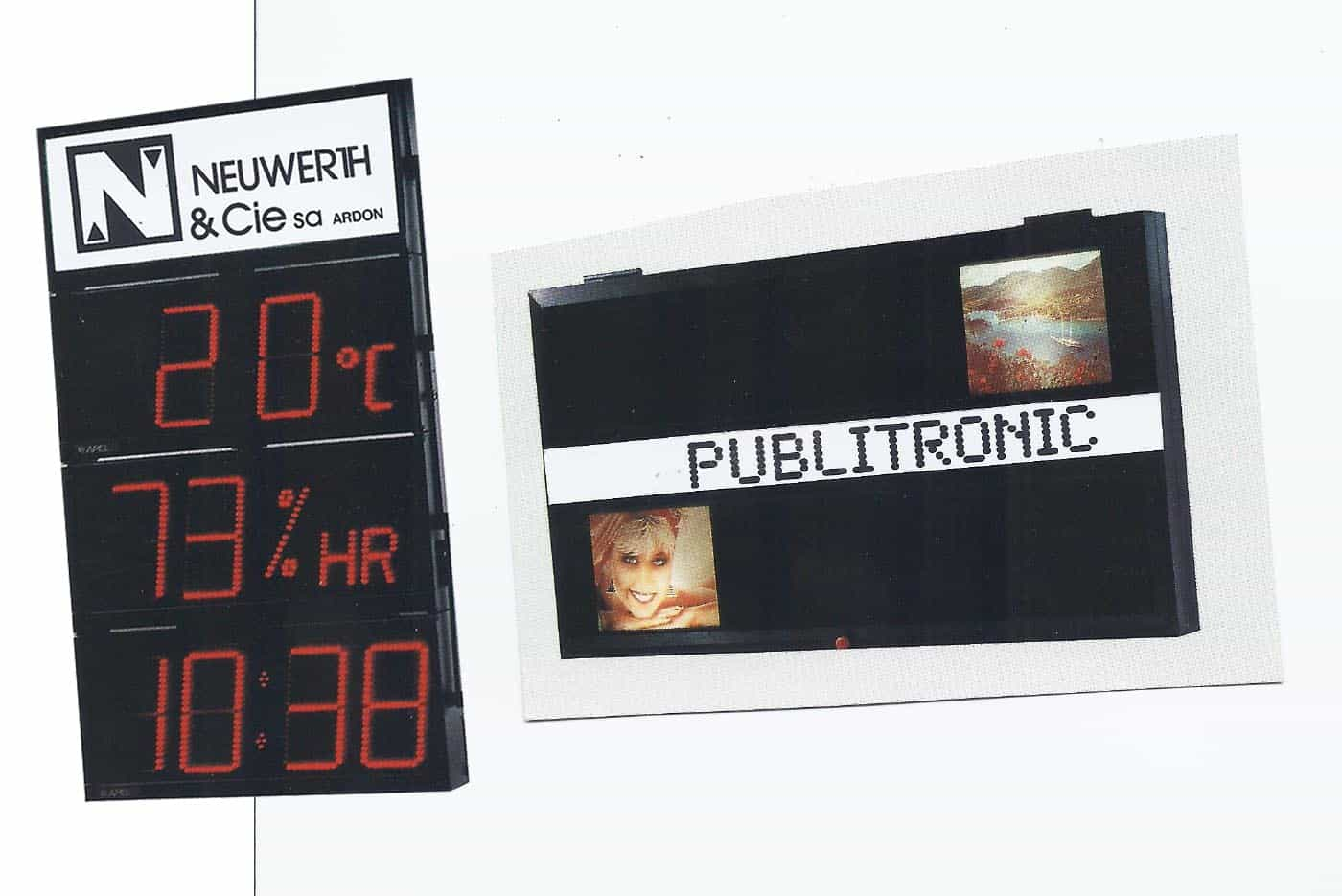 Tableau dynamique LED de 1977
