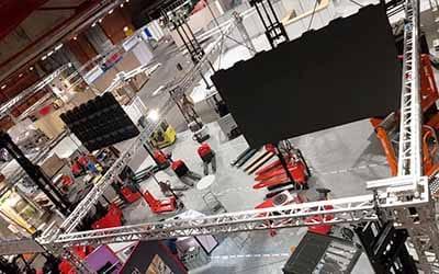 Location d'écran géant pour stand d'exposition